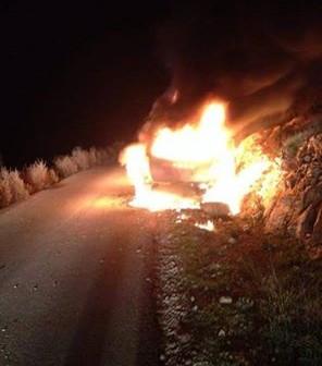 فلسطين: احتراق سيارة للاحتلال بعد رشقها بالمولوتوف