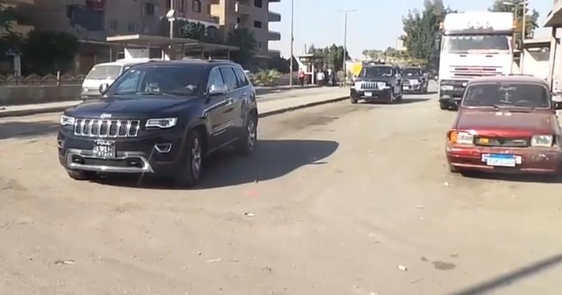 موكب الدكتور جلال مصطفى السعيد محافظ القاهرة