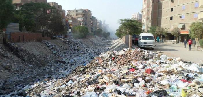 ترعة السيل تهدد حياة المواطنين بحدائق حلوان