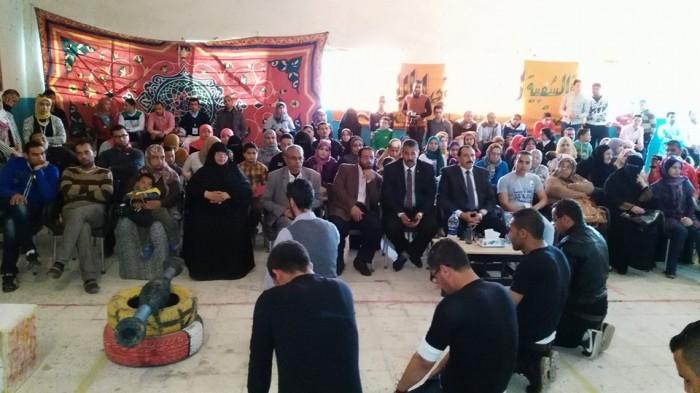 احتفالية زهرة سيناء فى حضور اللواء على العزازى مدير امن شمال سيناء
