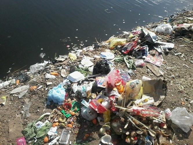 القمامة على ضفاف النيل