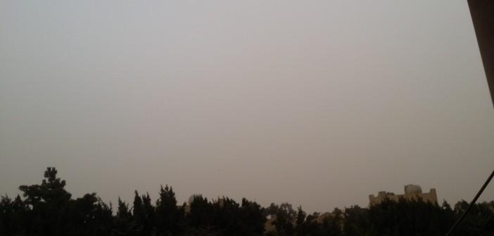 السماء مُلبدة بالغيوم في 6 أكتوبر (صورة)