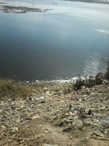 التلوث على ضفاف النيل فى سوهاج