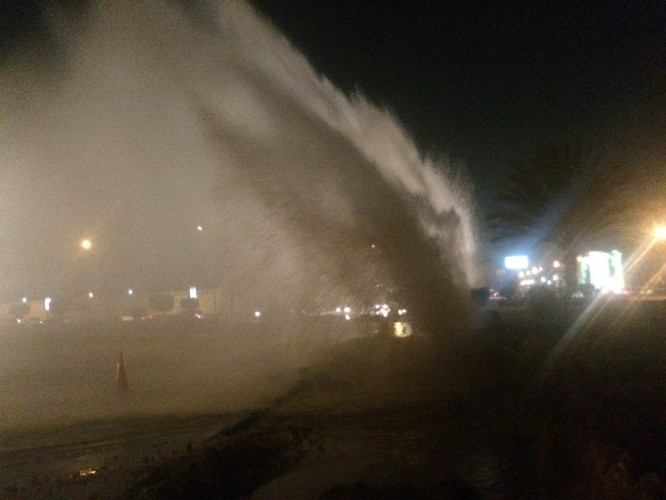 صورة لضفط المياه العالي