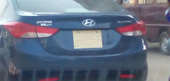 سيارة بلوحات «الجيش» أرقامها مطموسة (صورة)