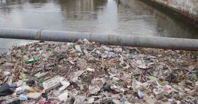 القمامة تحاصر بحر يوسف.. وتعوق حركة المياه بالفيوم (صور)