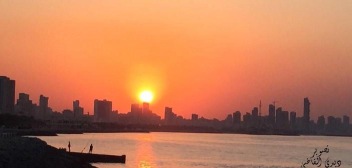 سحر غروب الشمس في الإسكندرية (صورة)
