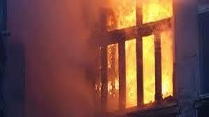 مجهولون يشعلون النار في نقطة شرطة أطلس بحلوان