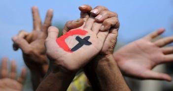 ميدان التحرير (مسلمين وأقباط)، قصة قصيرة،