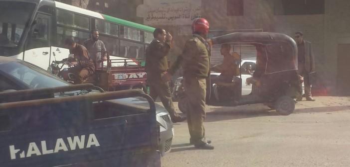المنصورة: «تكاتك» وموتسيكلات مخالفة دون حساب