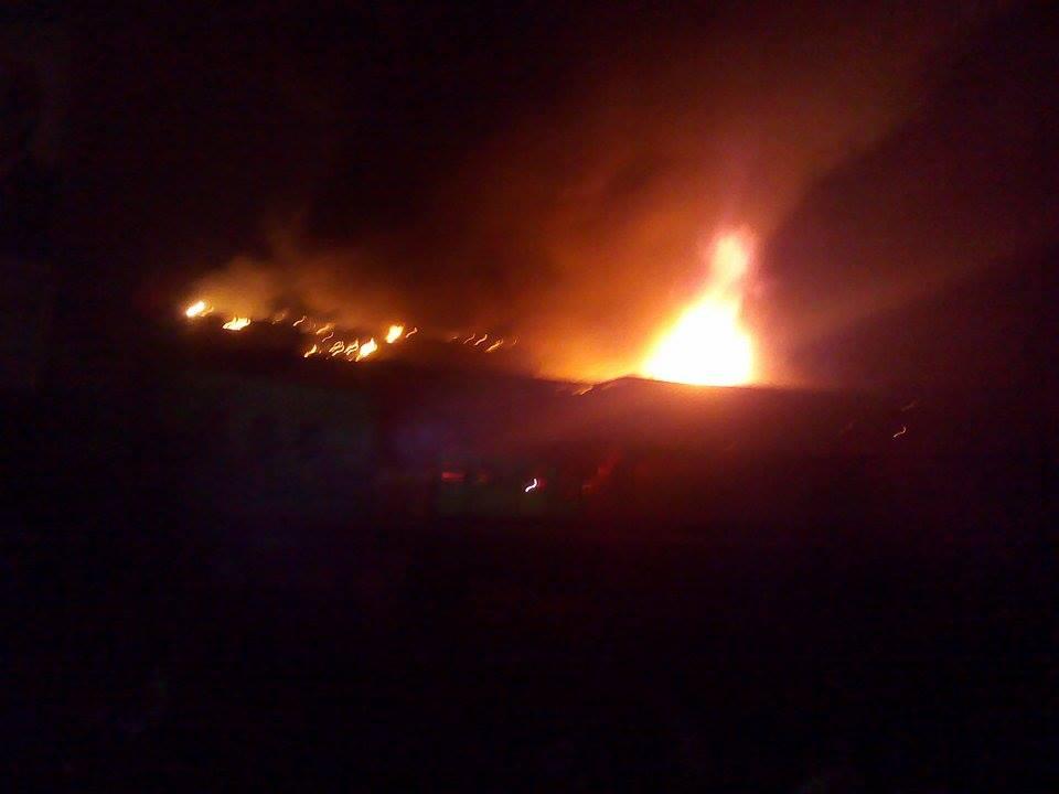 حريق مصنع  ميت نما 3