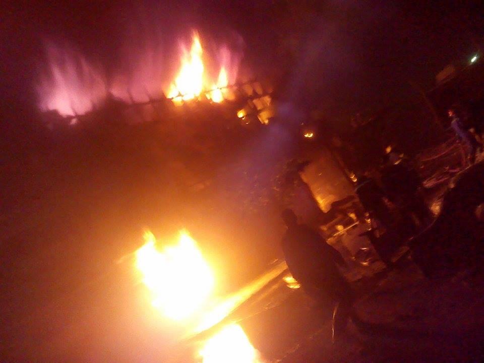 حريق مصنع  ميت نما 5