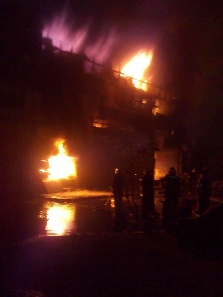 حريق مصنع  ميت نما 6