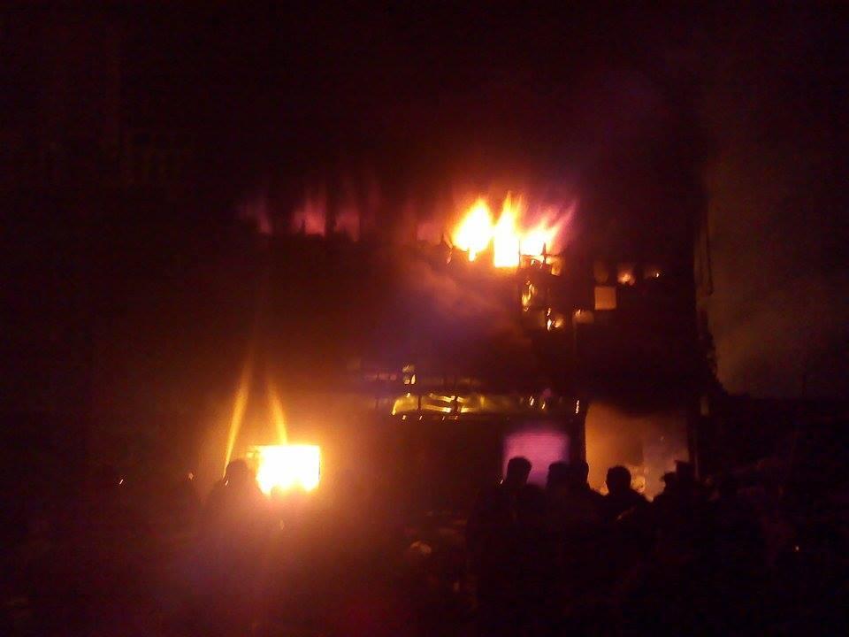 حريق مصنع  ميت نما