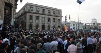 مظاهرات 25 يناير أمام دار القضاء العالي