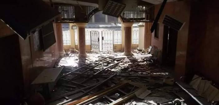 تدمير مبنى «القومي للمرأة» في هجمات العريش (صور)
