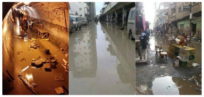 29 صورة كارثية.. الأمطار تغرق كفر الدوار في «شبر مية» وسط غياب المسؤولين