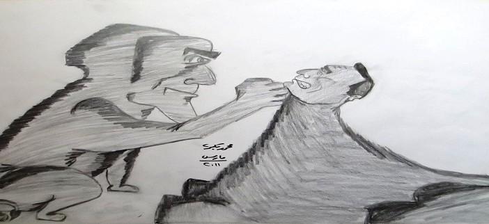 5 رسوم كاريكاتيرية عن 25 يناير (18 يوم ثورة)