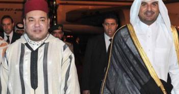 ملك المغرب وأمير قطر