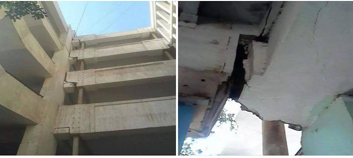 6 صور.. مدرسة تجريبية في البساتين على وشك الانهيار