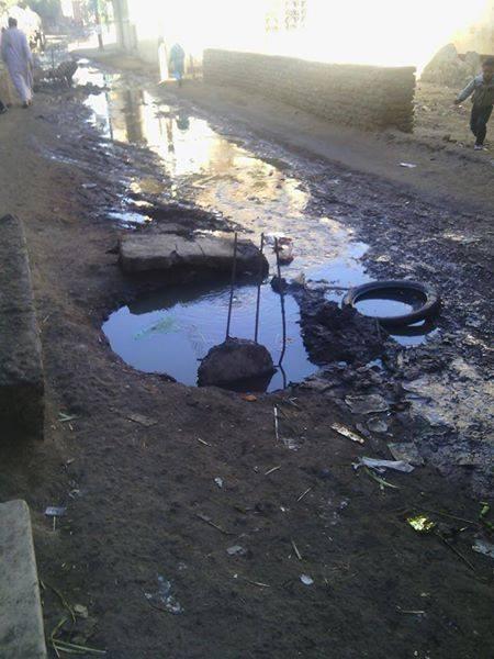 الغربية.. مياه الصرف الصحي