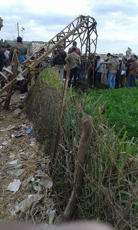 انهيار برج كهرباء فى الغربية.. والأمن يحاصر قرية