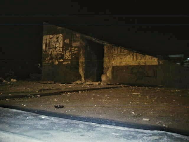 مكان انفجار القنبلة في جراج الرمل بالإسكندرية