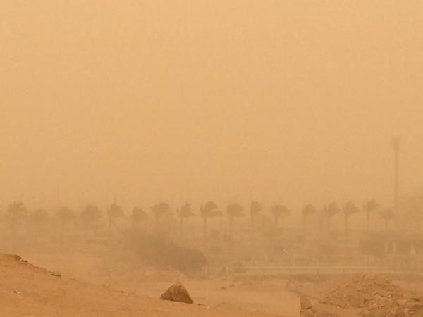 عواصف ترابية تعم القاهرة والمحافظات (مدينة الشروق ـ تصوير محمد عادل)