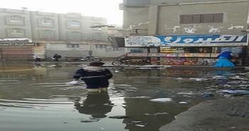 مياه الصرف الصحي غرق شوارع قرية بمنية النصر