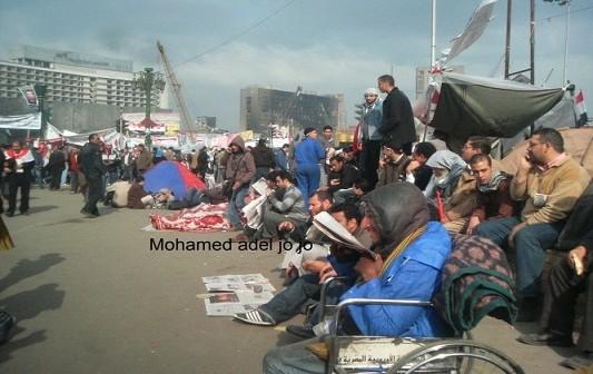 صورة.. «التحرير» صباح يوم التنحي ولحظات الانتظار العصيبة (18 يوم ثورة)
