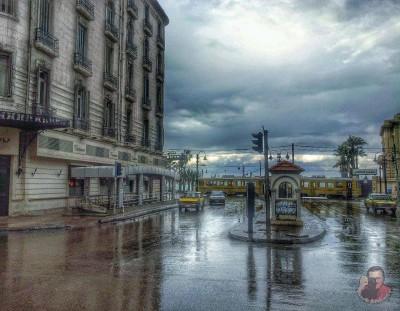 شوارع الإسكندرية لحظة سقوط المطر