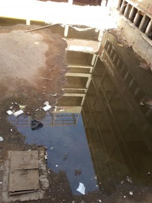 غرق مستشفى المبرة في أسيوط في مياه الصرف