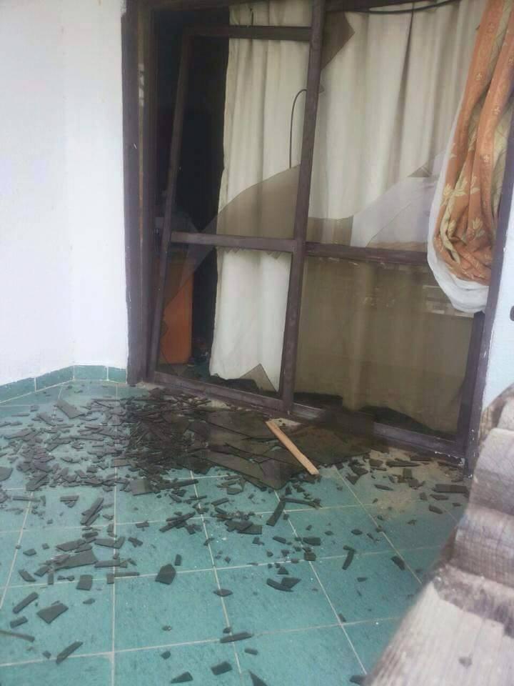 آثار هجوم معسكر الأمن المركزي على جامعة سيناء