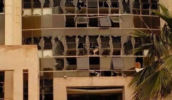 بالصور.. تلفيات جامعة سيناء عقب الهجوم على معسكر الأمن المركزي بالعريش