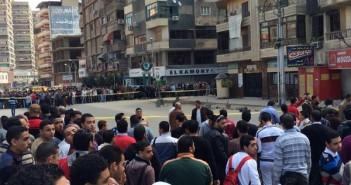العثور على قنبلة أمام بنك ناصر بالمحلة