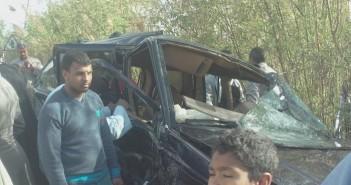 حادث مروع على طريق في سوهاج
