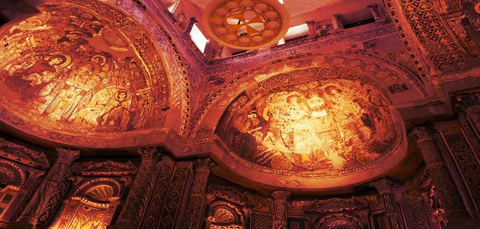 📸70 صورة تكشف عظمة البناء القبطي في «الدير الأحمر» بسوهاج (فيديو)