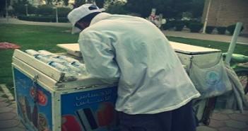 بائع آيس كريم مصري في الخليج