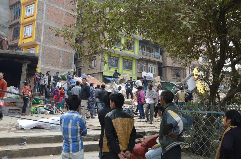 آثار زلزال نيبال كما التقطها المصري أحمد الصعيدي