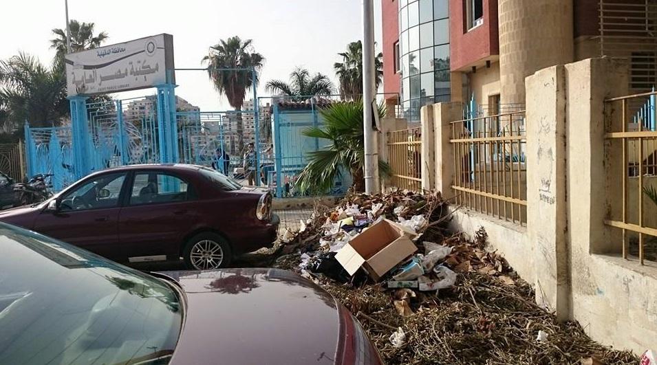 قمامة بمحيط ديوان محافظة الدقهلية3