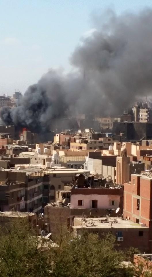 حريق الغورية (تصوير علاء الحسيني)