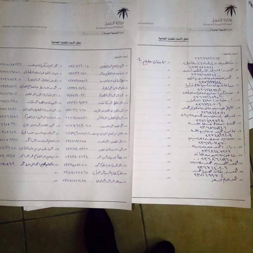 47 عاملا بينهم مصريون يشكون لمحافظ جدة شركة سعودية
