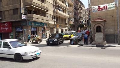 إشارة مرور مطفأة في الإسكندرية