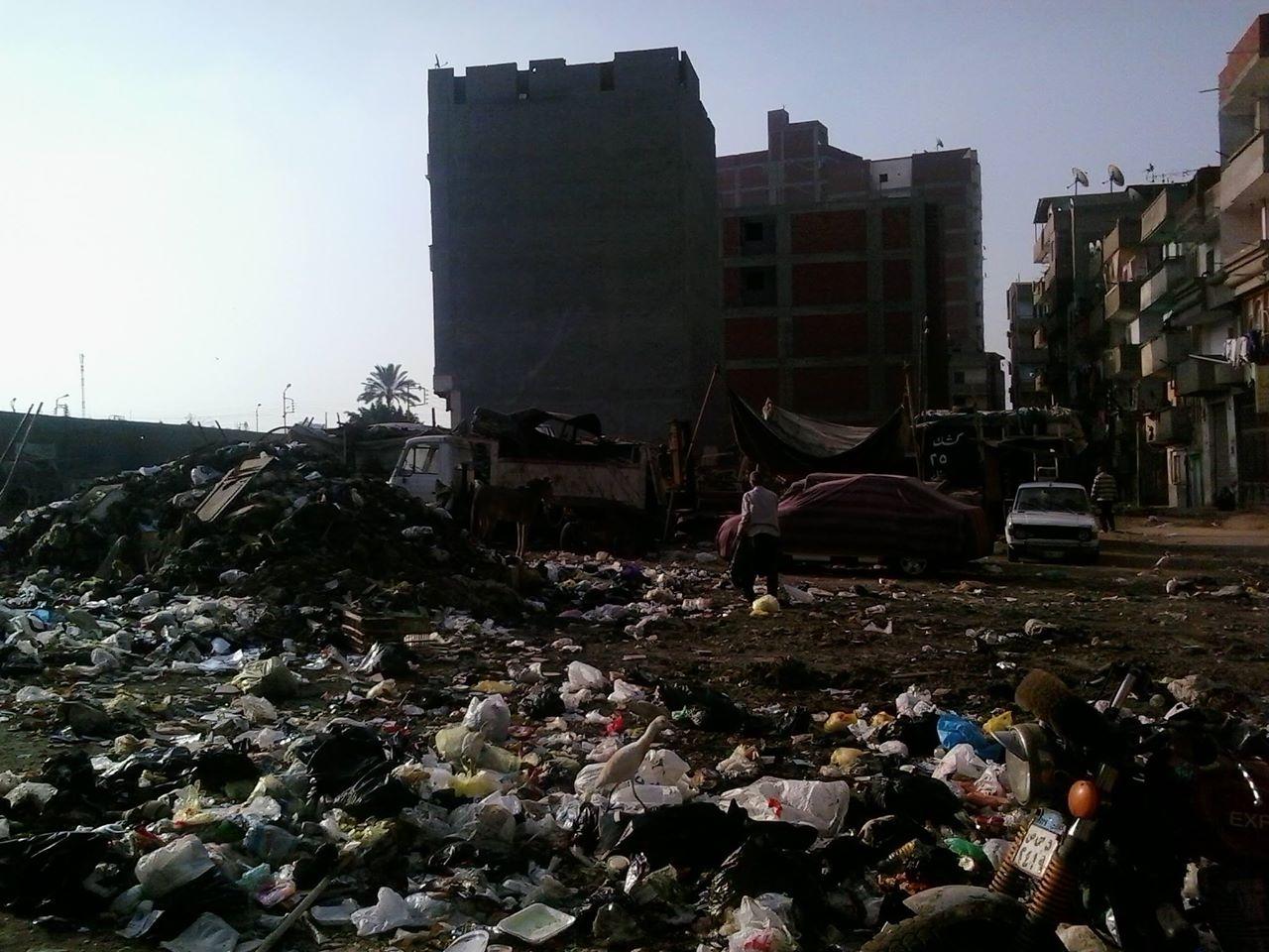 تكدس القمامة بعزبة الشال بالمنصورة