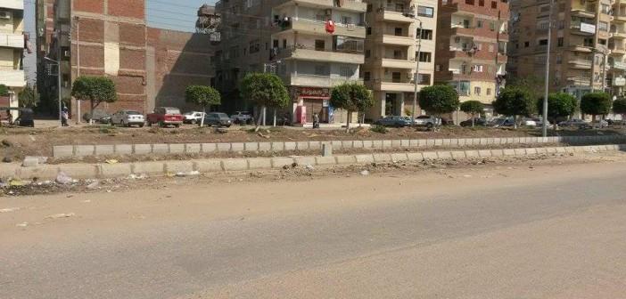 أخطاء كارثية في تجديد حديقة شارع قناة السويس بالمنصورة