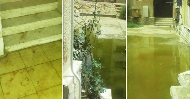 بالصور.. مياه الصرف تحاصر عقارات المواطنين في مدينة الشروق 📷