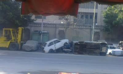 التلوث يحاصر مستشفى كرموز.. ويرهق المرضى (صور)