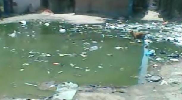 🎥فيديو.. مياه الصرف تملأ أرضًا للأوقاف.. وتهدد بيوت سكان في بشتيل البلد
