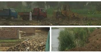 عمليات تجريف وردم مستمرة في نهر النيل بقنا