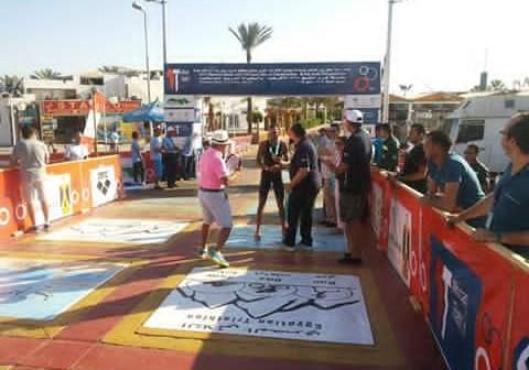 تواصل فعاليات بطولة الترايثلون العربية في شرم الشيخ